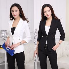 nice Official Workplace Standard Styles Ladies Fits along with Trousers as well as Blazer Coat Models Females Business wear Brand new 2015 Springtime