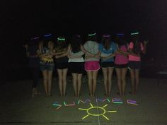 before we threw glow sticks in the pool.