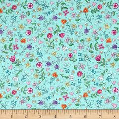 Michael Miller Tweet Me Bitty Blooms Aqua from @fabricdotcom  From Michael Miller, shake off the winter blues with this cheerful cotton print collection. It features cute little birds, birdhouses, flowers, and other bright prints that are perfect for quilting, apparel, and home decor accents. Colors include aqua, shades of pink, blue, green, white, and orange.
