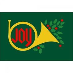 2x3 Joy & Horn Seasonal Flag; Nylon H&G - Flags A Flying