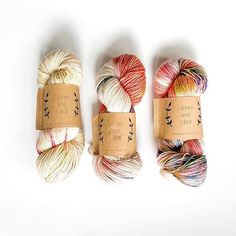 I wonder what is going to make with these skeins of Superwash Worsted showing 2 skeins of marsh lily on the right and orchid on the left Stay Tuned, Orchids, Fiber, Lily, Knitting, Tricot, Low Fiber Foods, Breien, Stricken