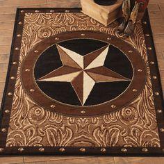 Southwest Rugs: Sheridan Star Rug|Lone Star Western Decor