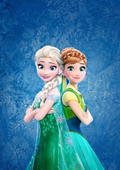 Elsa and Anna in Frozen Fever