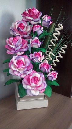 Discover thousands of images about Best 12 – Page 508906826640094547 – SkillOfKing. Nylon Flowers, Tissue Paper Flowers, Plastic Flowers, Handmade Flowers, Diy Flowers, Fabric Flowers, Flower Pots, Floral Centerpieces, Floral Arrangements