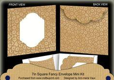 Vintage Tea Beaded Fancy 7x7inch Easy Envelope Mini Kit on Craftsuprint - Add To Basket!
