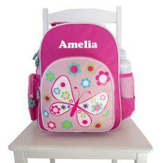 Personalised Preschool Back Pack Butterfly Pink Pre School, School Bags, Back To School, School Ideas, Little Ones, Little Girls, Preschool Backpack, Personalized Backpack, Pink Butterfly