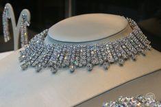 White diamond choker