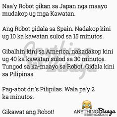 BINISAYA UG UBAN PA: Ang Robot Bisaya Quotes, Robot, Funny Jokes, Exercises, Language, Awesome, Ideas, Husky Jokes, Exercise Routines