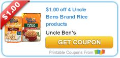 $1.00 off 4 Uncle Bens Brand Rice products