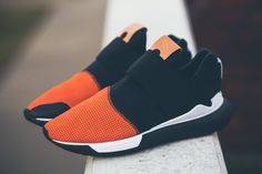 "adidas Qasa Low II ""Black & Orange"" I'm dead getting this Sneakers Mode, Sneakers Fashion, Fashion Shoes, Mens Fashion, Runway Fashion, Me Too Shoes, Men's Shoes, Shoes Sneakers, Roshe Shoes"