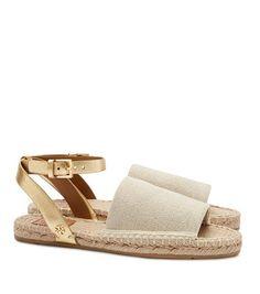 Tory Burch Elastic Metallic Espadrille Sandal : Women's Espadrilles
