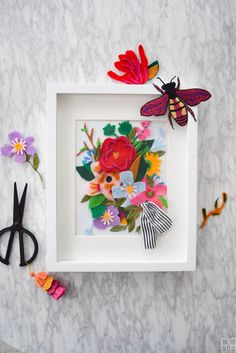 DIY: felt floral wall art
