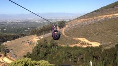Ziplining in the Constantia Valley