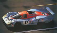 Beautiful lines of one of the Porsche 917LH's (langheck or longtail) at Le Mans in 1971. The cars reached 241 mph on the 3 mile Hunaudières straight. [960x554]