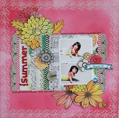 Summer Vacation - by Michiko Kato using the Amy Tangerine Sketchbook collection from American Crafts. Scrapbook Paper Crafts, Scrapbook Pages, Paper Crafting, Cigar Box Crafts, Sketchbook Layout, Minis, Amy Tan, Time Photo, American Crafts