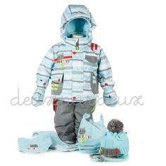 Deux Par Deux boys 2pc snowsuit - TrendyBrandyKids - European trendy clothes for boys and girls. Catimini, Desigual, Deux par Deux, Diesel, Halabaloo, Ikks, Jean Bourget, Marese, Me Too, Mim Pi, Pom Pom Casual.