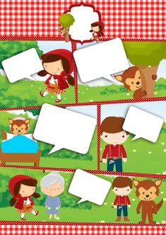 Printable Border, Red Riding Hood Party, Speech Balloon, Red Ridding Hood, Red Party, Woodland Theme, Silhouette Projects, Little Red, Kids Playing