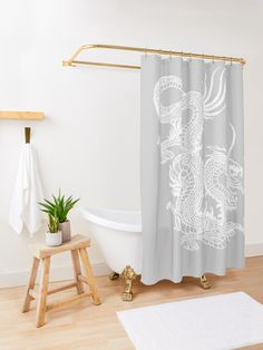 'Purple watercolor leaves branches with gold glitter' Shower Curtain by MazeMazekeen Yellow Marble, Rose Gold Marble, Marble Showers, Romance, White Leaf, White Mums, White Snowflake, Pink Watercolor, Watercolor Circles