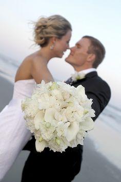 Eric + Laura. Wedding by A Charleston Beach Wedding. Photography by Cori Carpenter.