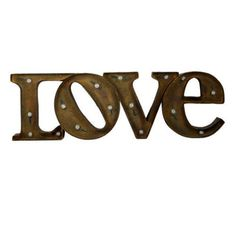 "Large 24"" Marquee Vintage Lighted 3d LOVE Metal Sign"