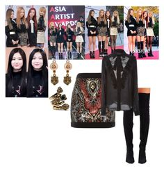Black Pink - AAA Awards (Asia Artist Awards) by annijor on Polyvore featuring polyvore moda style Elie Saab Balmain Jeffrey Campbell Gucci fashion clothing