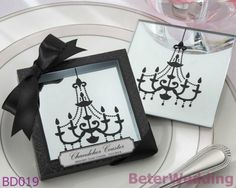 """20pcs=10set Wedding favor """"Chandelier"""" Mirrored Glass Coaster BD019  event Decoration, party Gift@BeterWedding        http://www.aliexpress.com/store/product/12box-Seaside-Beach-Candles-in-Coral-Design-Gift-Box-LZ030-Wedding-Gifts-Wedding-Souvenirs/512567_651467667.html    #coaster #coasterset #giftset #partysouvenirs #uniqueweddingfavors  #weddingfavorboxes #candybox #wedding #decoration   淘宝店零售店: http://ShanghaiBridal.Taobao.com =上海倍乐礼品Shanghai Beter Gifts Co Ltd= http://beterwedding.com"""