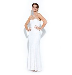 €185.00 Long white sequin gown.  Size: 8-10 Deb Dresses, Formal Dresses, Dress Hire, Sequin Gown, Sequins, Gowns, Fashion, Dresses For Formal, Vestidos