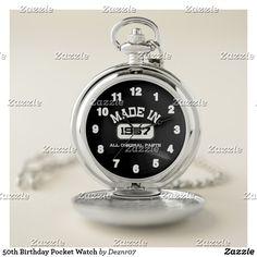 50th Birthday Pocket Watch