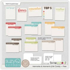 Free Journaling Card Set- Faves, This Week, Top 5