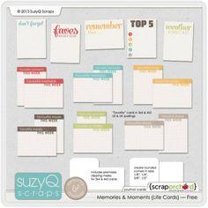 Free Journaling Card Set- Faves, This Week, Top 5