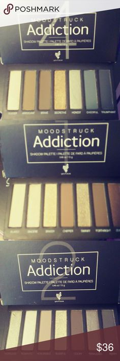 Younique moodstruck addiction palette Younique moodstruck addiction palettes choose from one two or four Brand new in box Bundle and Save$ Younique Makeup Eyeshadow