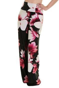 High Waist Fold Over Wide Leg Gaucho Palazzo Pants (Passionate Azalea) Wide Leg Palazzo Pants, Printed Palazzo Pants, Wide Leg Pants, New Outfits, Stylish Outfits, Summer Outfits, Fashion Outfits, Next Fashion, Gaucho