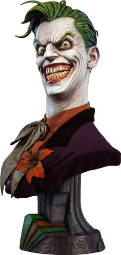 I could have this on my desk at work, right? - Joker Life-Size Bust by Sideshow Collectibles
