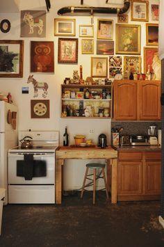Art in the kitchen.