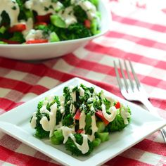 Easy to make, super healthy, and, unlike most broccoli salad recipes, not fattening.