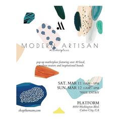 We are so excited to invite you all to the first ever MAM pop-up March 11-12! Featuring amazing designers of all trades including some of your favorite local kids clothing brands! So come join us to try on some #clogs or just to hang out and follow @modern.artisan.marketplace for all the updates #mamcommunity #lapopupshop