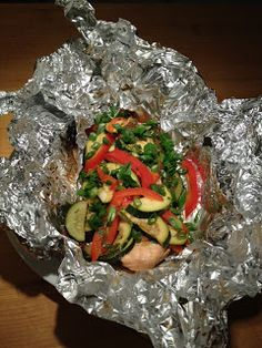 Grilled Salmon and Vegetable Packets Recipe – The Lemon Bowl