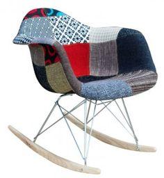 RAR Rocker Chair - Eames Chair Reproduction - Patchwork