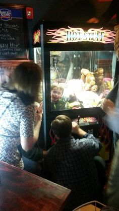 My friend Jason was at the bar and legit saw this kid stuck in the claw machine. Oh my gosh..