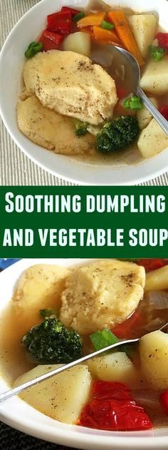 Soothing dumpling and vegetable soup, a great natural remedy against cold. An easy recipe that screams comfort food.