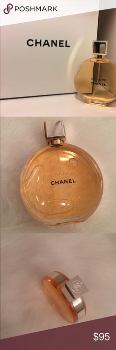 Chanel Chance perfume The Chanel Chance Eau de Parfum spray, was given to me as a gift and I've only wore once. The item has a few scratches on the actual top, but still in great condition to use. Original box is not included! CHANEL Other