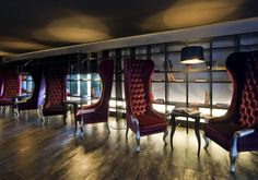 Fullscreen Gallery (Galleria) with Picture Commenting Feature from Hotel Gams › PatternTap Das Hotel, Cool Designs, Photo Galleries, Nice, Gallery, Pictures, Content, Furniture, Lighting