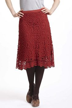 Doily Lace Skirt - Anthropologie.com