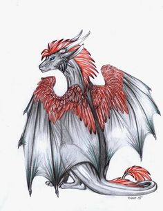 red and white dragon