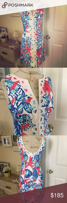 Lilly Pulitzer SSS Shift Dress 4 Holy Grail Beautiful and highly sought after Lilly print and dress! This dress is gorgeous and new without tags! Available in a size 4. She She Shells is stunning!! Necklace isn't included. Shipping is immediate upon purchase! No trades or lowball offers please. Thanks 💕🌴❤️ Lilly Pulitzer Dresses Midi