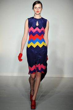 Soooo freaking cool  Love this  brand and the zig zags  House of Holland Fall 2012 11