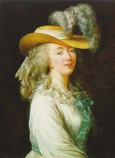 Jeanne du Barry o Madam du Barry (19 de agosto de 1743 Vaucouleurs, Francia - 8 de diciembre de 1793 París, Francia) fue la amante de Luis XV y la última favorita de la realeza francesa. Por matrimonio se convirtió en condesa du Barry entre 1768 y 1793. Su fuerte influencia sobre el rey llegó al punto de instar el cese de Choiseul - Élisabeth Louise Vigée Le Brun (Marie Élisabeth Louise; 16 April 1755 – 30 March 1842), also known as Madame Lebrun, was a prominent French painter.