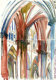 New Landscape Sketch Watercolor Urban Sketchers 69 Ideas Landscape Sketch, Landscape Drawings, Landscapes, A Level Art Sketchbook, York Minster, Art Alevel, Building Art, Urban Sketchers, High Art