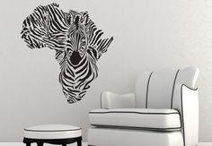 zebra vinyl wall murals that awesome - Luvne.com - Best Interior Design Blogs