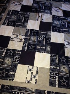 Dallas Cowboys Quilt Quilts By Mom Pinterest To Be